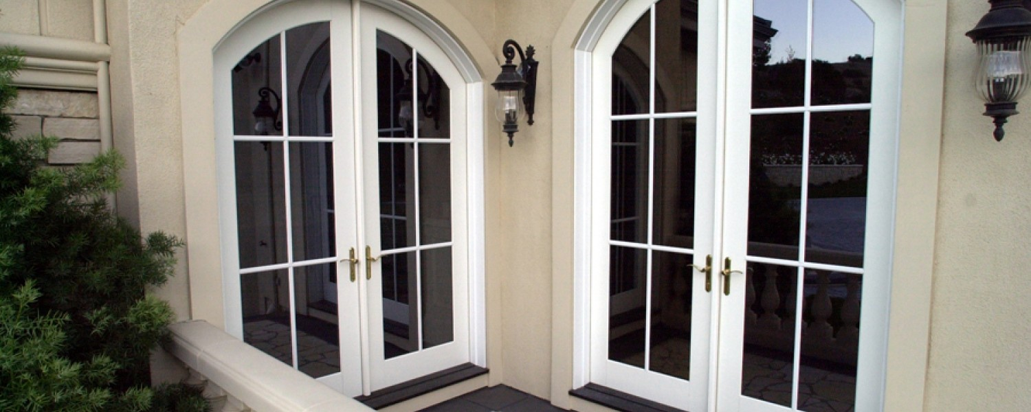 Arched French Doors Exterior Home Design