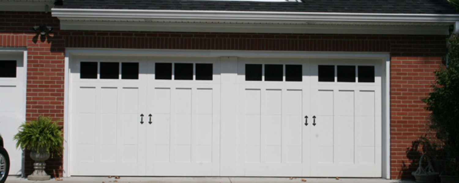 Garage doors by cunningham door window 18 x 7 design 13 with faux center rubansaba