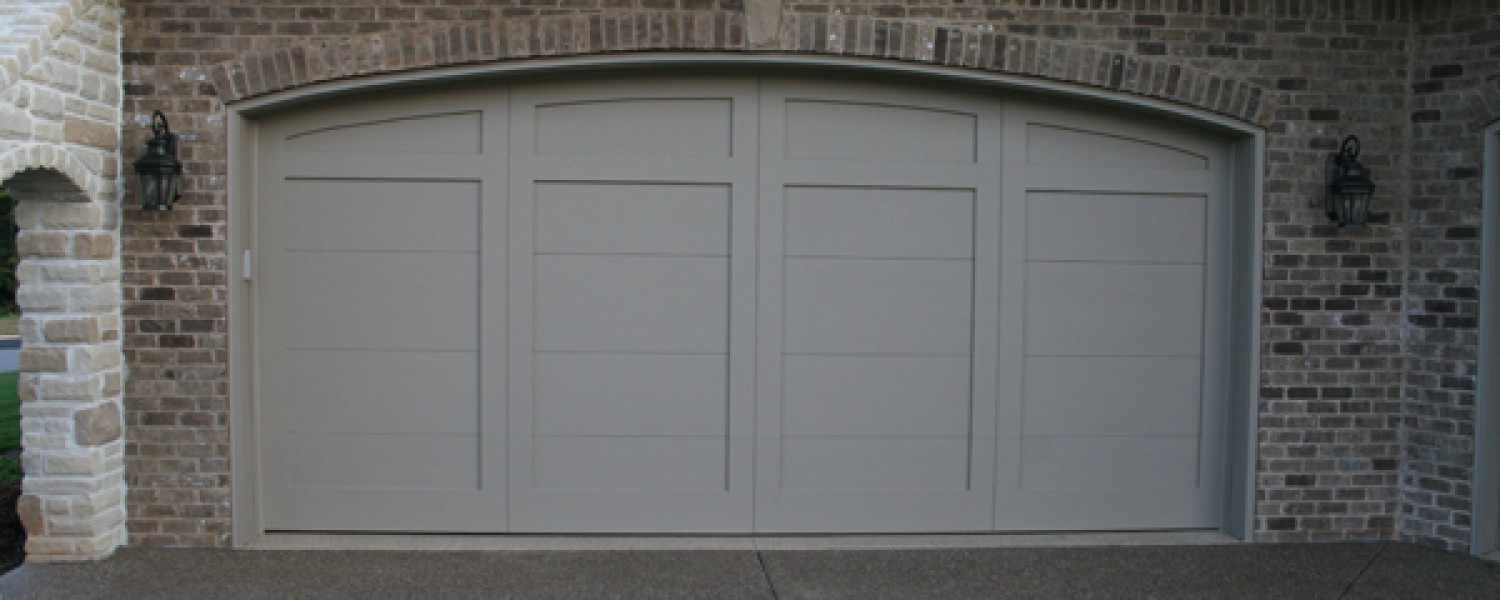 Garage doors by cunningham door window craftsmanmahogany custom arch design 11 with arched solid top rubansaba