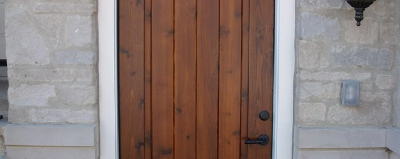 ... Stained Cedar Entry Door ...