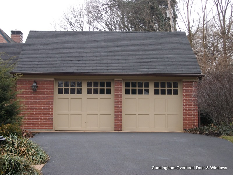 Clopay cunningham door window for Tall garage doors