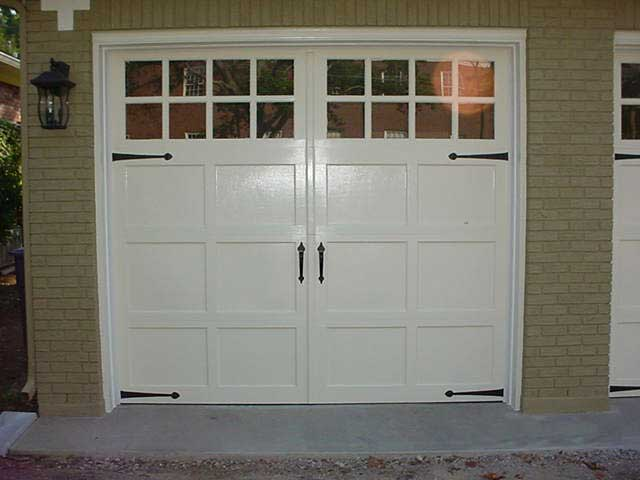 Clopay cunningham door window for How tall are garage doors