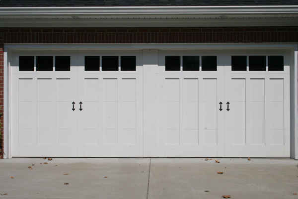 18 x 7 design 13 with faux center - Garage Door With Door