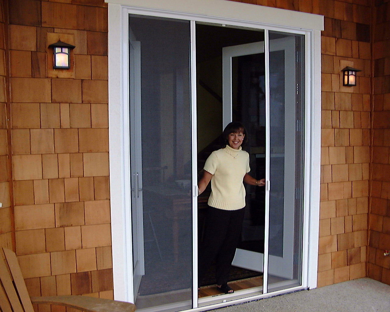 French doors exterior cedar