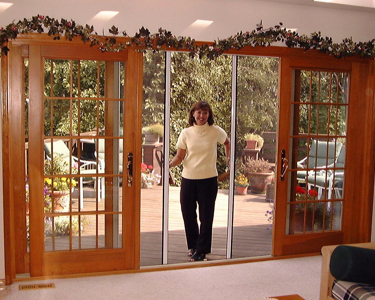 Reel screens cunningham door window for Residential french doors