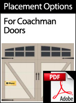 Faux Hardware Placement Options for Coachman Doors