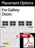 Faux Hardware Placement Options for Gallery Doors